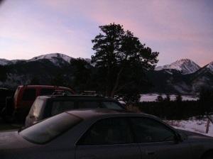 Cold dawn.