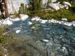 White-mineral-laden stream