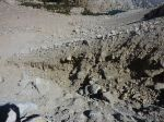 Erosion in scree chute
