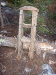 Ladder near an established camp