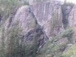 Diagonal waterfall into lower basin