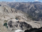 NE from summit, to Palisades and Bishop Pass