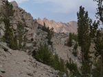 Piute Crags from Lamarck Col trail