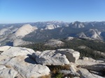 Half Dome (l) and valley from Starr King