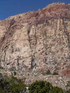 Solar Slab (l) and descent gully (c)