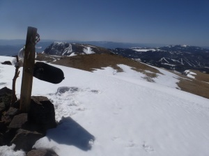Summit mailbox, looking south