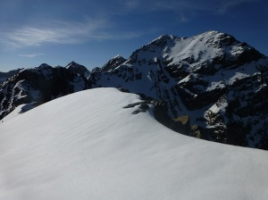 Summit from top of chute