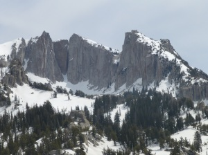 Summit (l) and western cliffs
