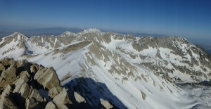 Panorama of traverse from Pfeifferhorn