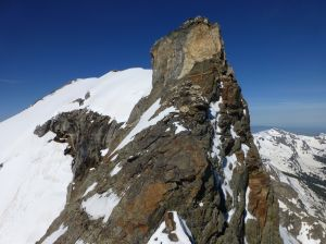 Crux step (crack on right)