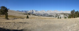Panorama west of Bighorn Plateau