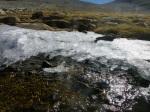 Frozen stream below Tulainyo