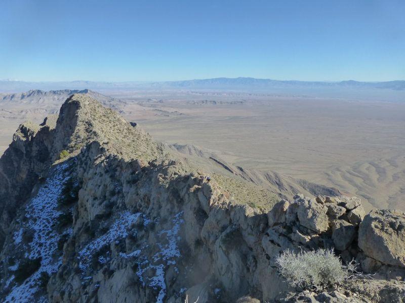 Summit ridge from summit