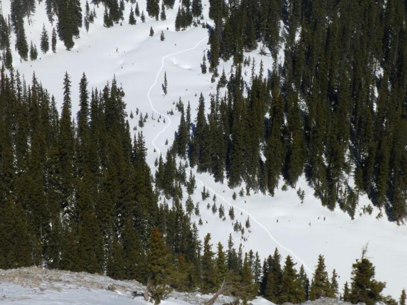 Path across cirque from ridge