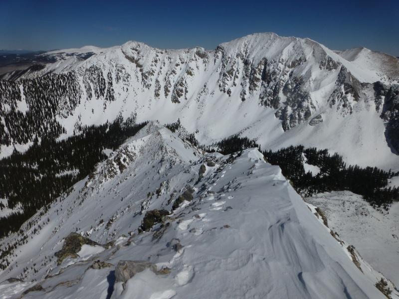 Down NE ridge of West Truchas